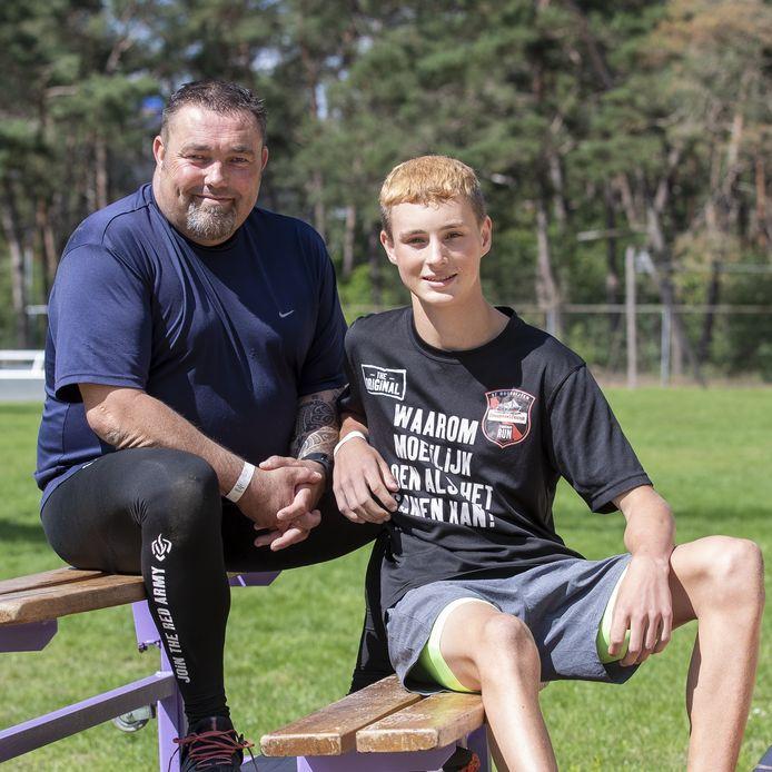 Ook vader en zoon Roy en Quinten Kamphuis doen mee aan het trainingsprogramma voor de Yu Man race.