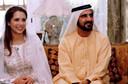 Sheikh Mohammed Bin Rashid al Maktoum en sheikha Hind Bint Maktoum