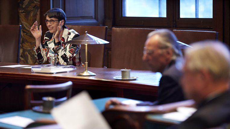 Klijnsma vorig jaar tijdens de stemming in de Eerste Kamer over de participatiewet om arbeidsgehandicapten aan de slag te krijgen Beeld ANP