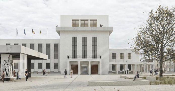 Een mogelijk toekomstbeeld van het stadhuis van Blankenberge.