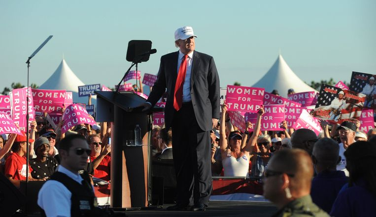 Donald Trump in Florida.  Beeld Photo News