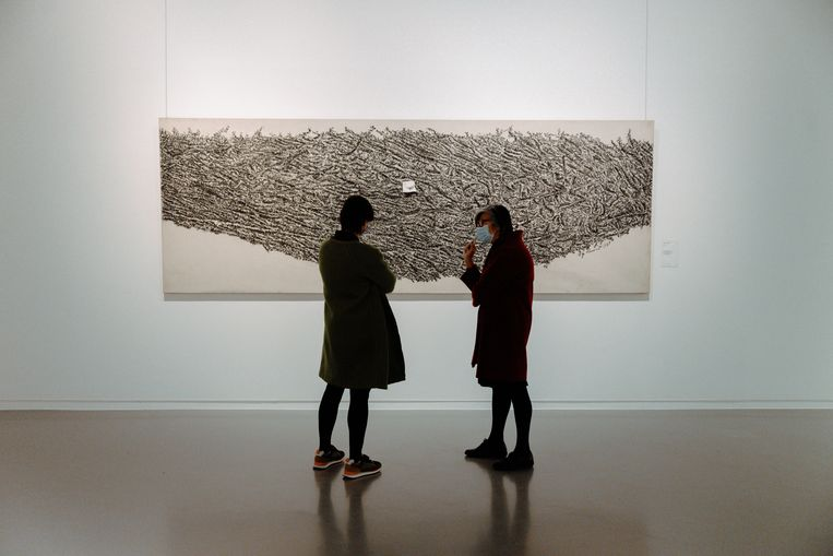 Naast Paul Klee en Luc Tuymans hangt in de expo 'Be Modern' ook werk van Henri Matisse, Hugo Claus en Francis Bacon aan de muren. Beeld Damon De Backer