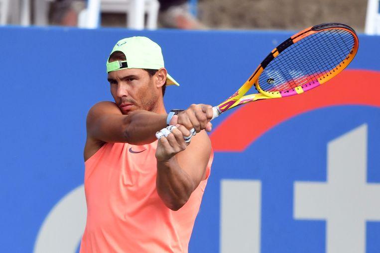 De Spaanse tennisser Rafael Nadal, een van de sporters die ontbreken op de Spelen. Beeld AFP