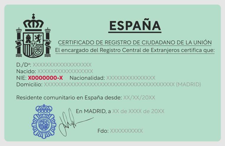 Een NIE, afkorting van Número de Identidad de Extranjero, heb je in Spanje om de haverklap nodig. Beeld