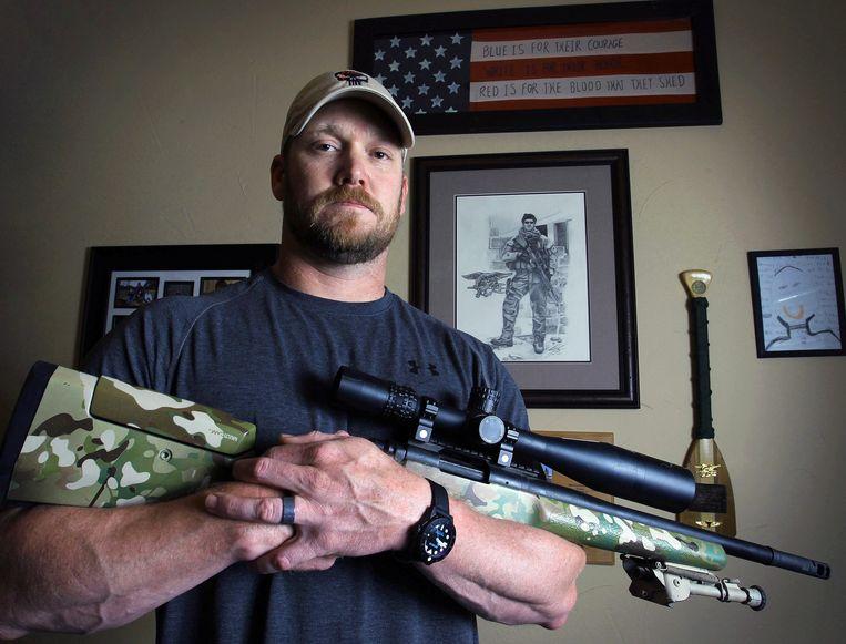 Chris Kyle, op wiens autobiografie American Sniper is gebaseerd. Hij doodde 160 Irakezen tijdens vier uitzendingen tussen 2003 en 2009. Beeld ap