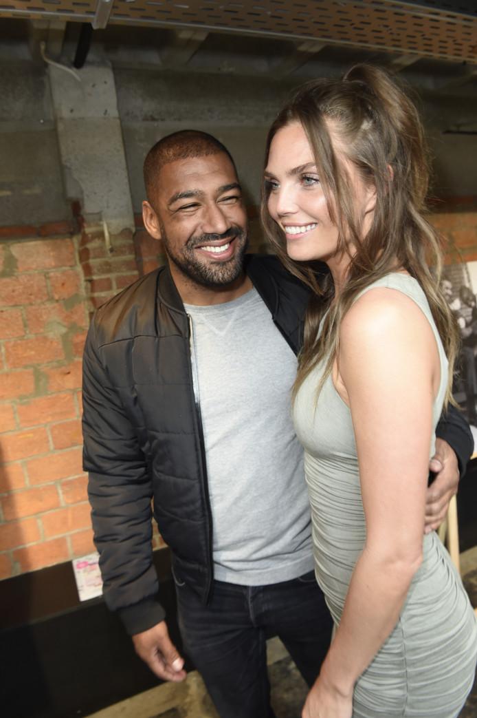 Kim Feenstra en haar vriend Stanley Tailor.