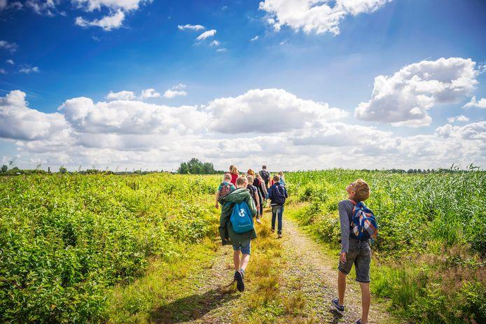 Het Bellopad, een wandelpad vanaf het Spoorhuis in Vinkeveen