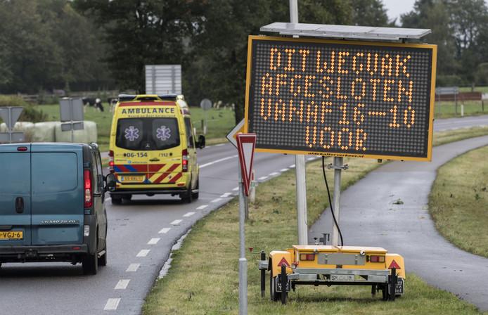 Dit matrixbord waarschuwt automobilisten al geruime tijd voor wat hen te wachten staat.