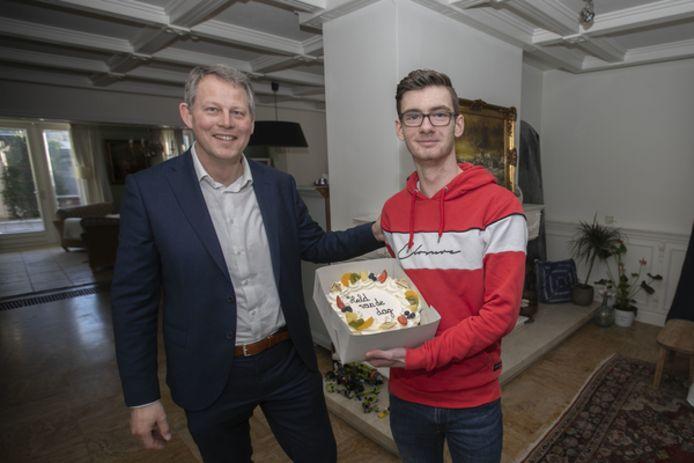 Burgemeester Bosma en Daniël Stek.