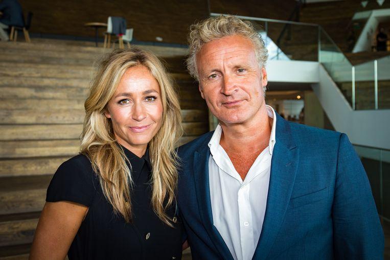 Wendy van Dijk en haar man Erland Galjaard.
