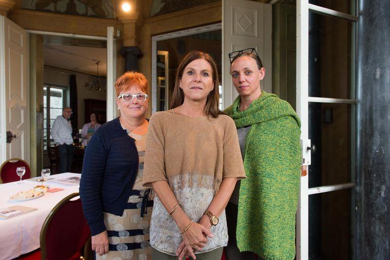 Organisatoren Bernadette Boeykens, Anne Boeykens en Griet Ivens.