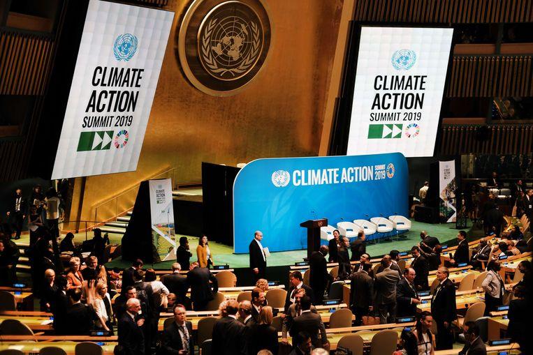 Wereldleiders verzamelen in New York voor de VN-Klimaattop. Beeld AFP