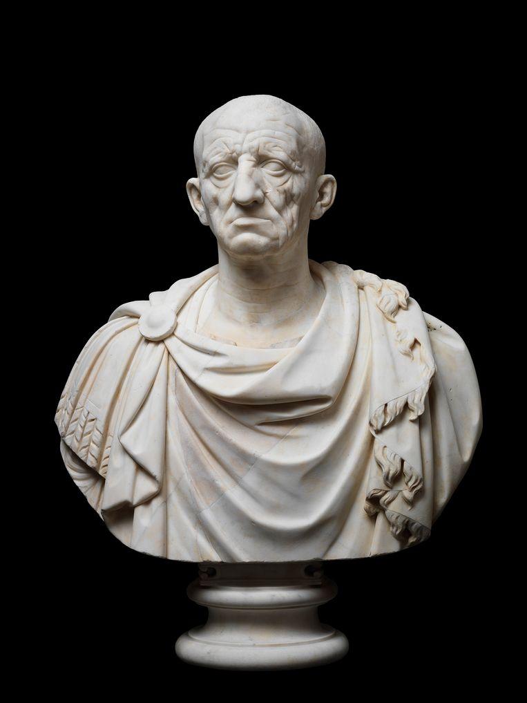 Marmeren buste naar de beeltenis van Servius Sulpicius Galba. Beeld FondazioneTorlonia