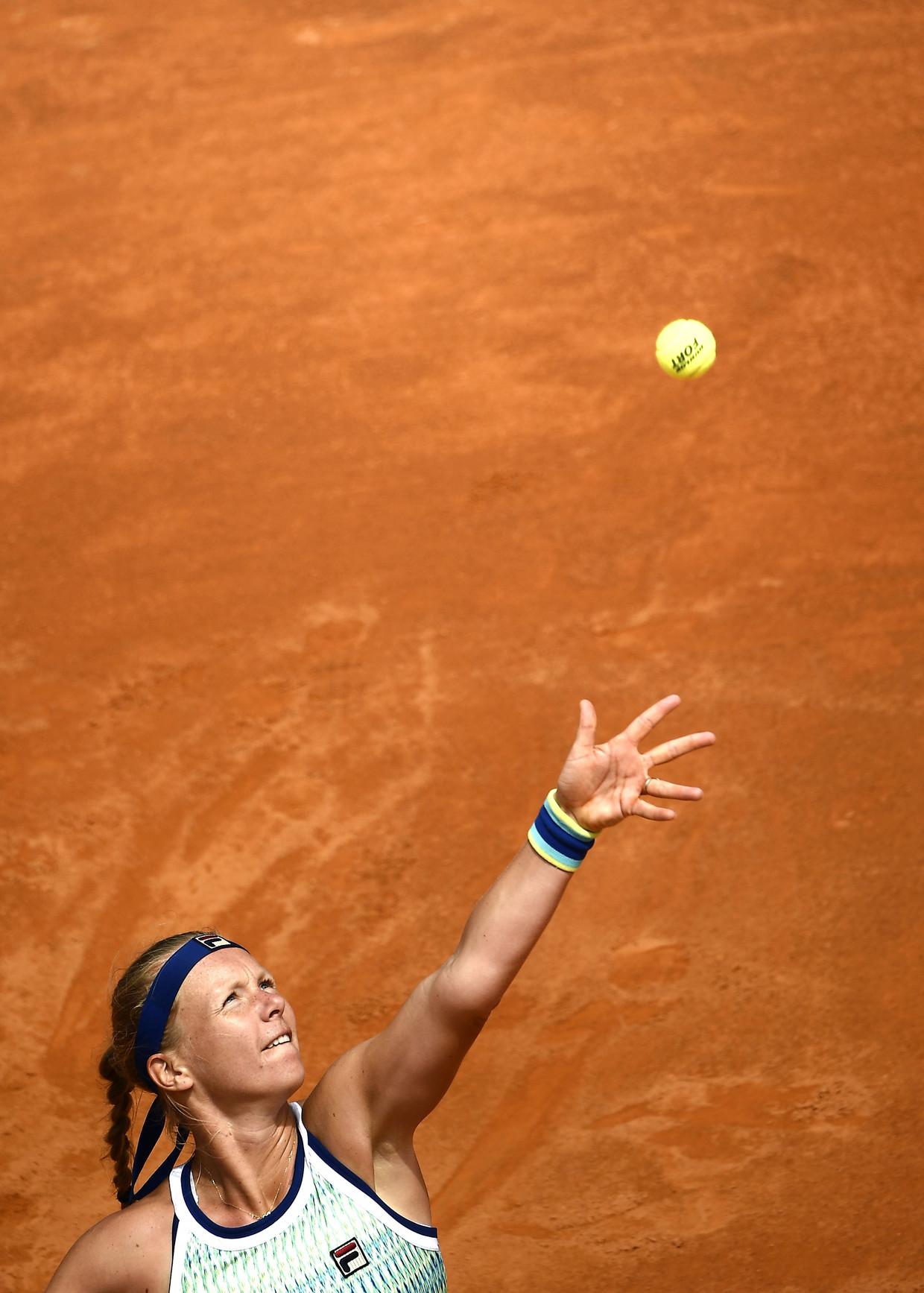 Kiki Bertens tijdens het WTA Masters toernooi in Rome.