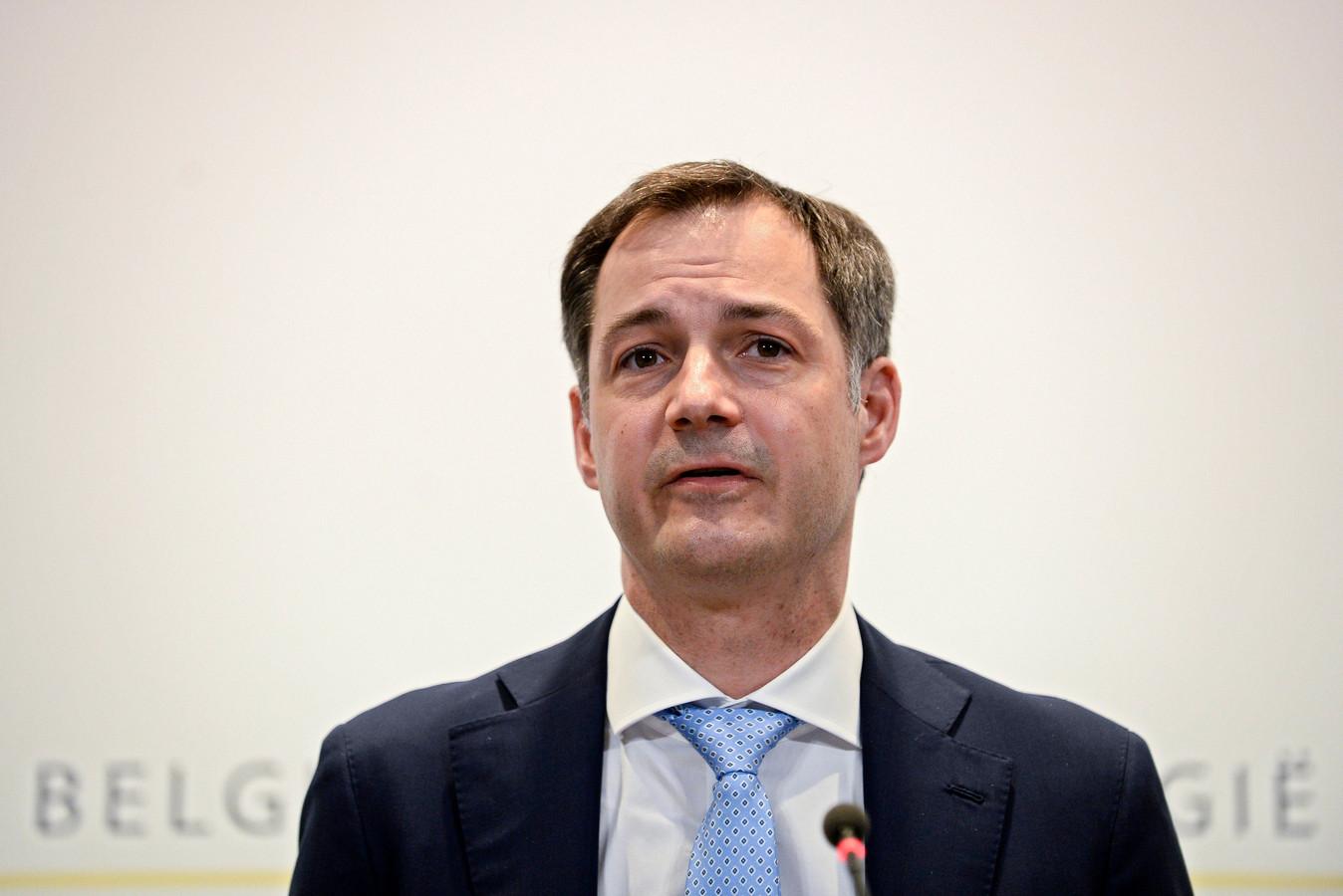 Alexander De Croo en conférence de presse, le 26 février 2021.