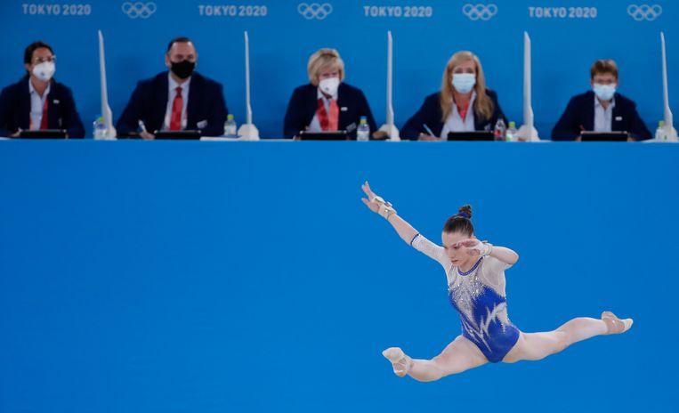 Vladislava Oerazova van de gouden Russische turnploeg. Beeld EPA