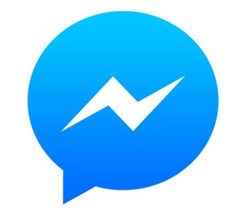 Het logo van Facebook Messenger. Beeld fb