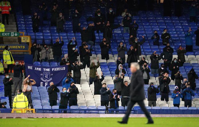 Fans van Everton tijdens het thuisduel met Chelsea begin December.