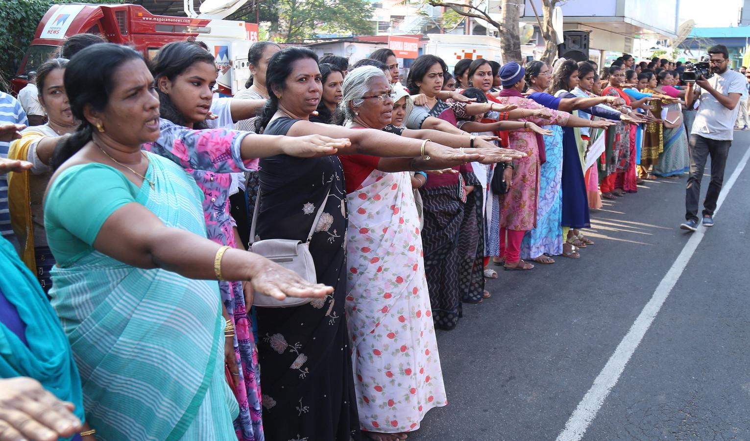 Vrouwen protesteren in 2019 in India tegen hun benarde situatie