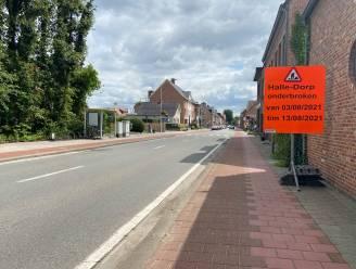 Nieuwe laag asfalt in Halle-Dorp: rijbaan anderhalve week onderbroken