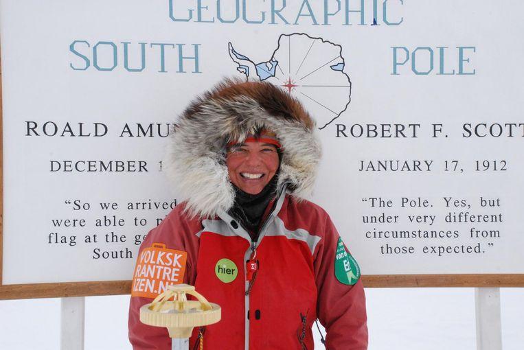Tijdens de ski-expeditie op Antartica in 2007/2008. Beeld