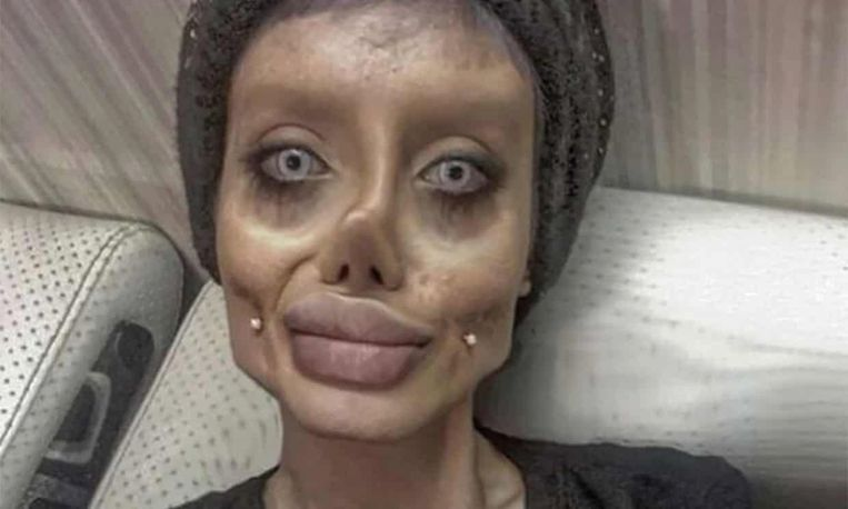 Sahar Tabar als zombie-Angelina Jolie. Beeld RV
