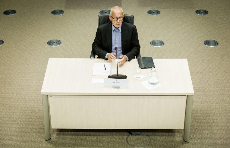Erik Staal, voormalig directeur-bestuurder bij Vestia, verschijnt voor de Parlementaire Enquetecommissie Woningcorporaties. Beeld anp