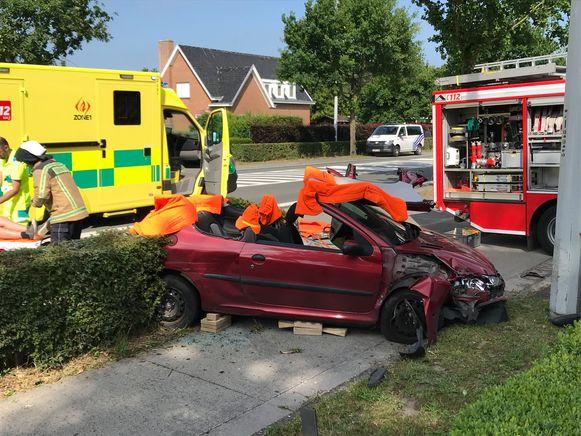 Het ongeval gebeurde langs de Maalsesteenweg