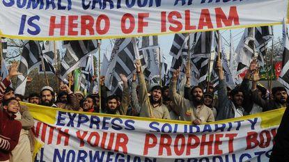 Denen tegen herpublicatie Mohammed-cartoons