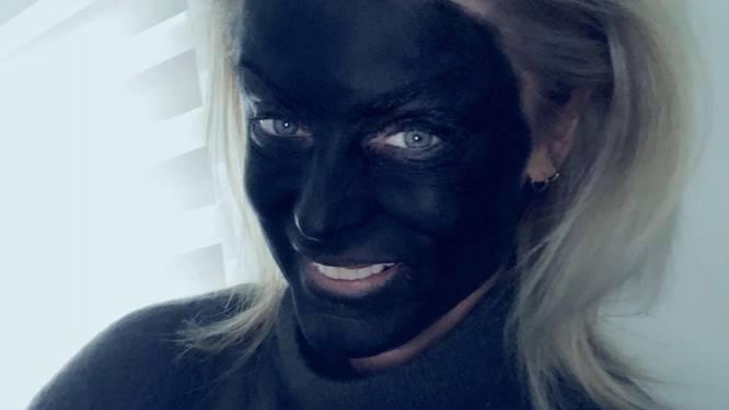 """Joyce De Troch krijgt veel negatieve reacties op 'blackface'-foto: """"Je zegt dat je geen racist bent, maar dan doe je dit"""""""