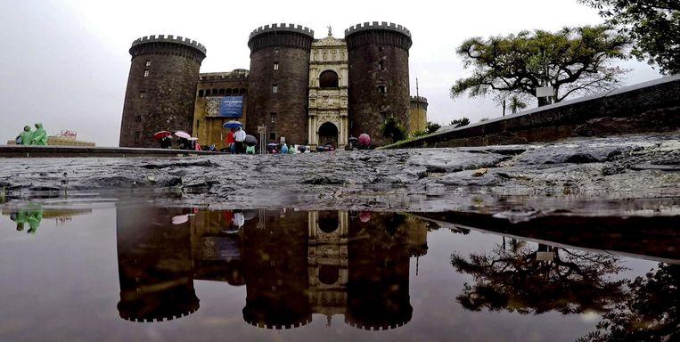 Het Maschio Angioino kasteel in Napels, gisteren.