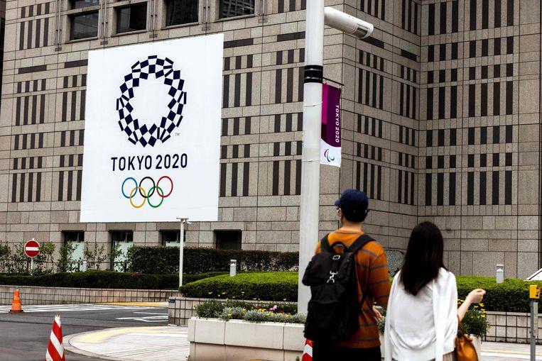 Het enthousiasme voor de Spelen is in Japan naar een absoluut dieptepunt gezakt. Beeld AFP