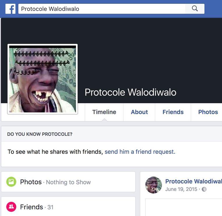 De Facebook-account van Abdelhamid Abaaoud staat nog altijd online. 'Walodiwalo' betekent 'niets voor niets' in Marokkaans Arabisch. Beeld RV