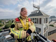 Bevelvoerder Ilse Larsson ziet Hengelo regelmatig vanaf grote hoogte