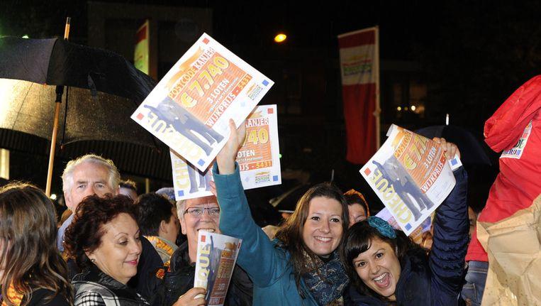 Bewoners van Cuijk vierden in september feest nadat de stad de PostcodeKanjer van 20 miljoen euro bij de Postcode Loterij had gewonnen in de septembertrekking Beeld ANP