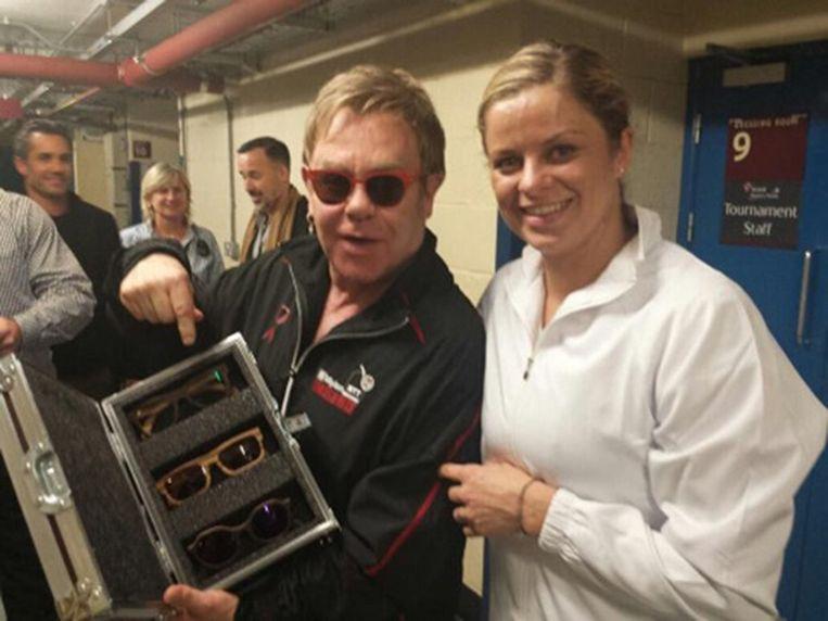 Kim Clijsters ontmoette Elton John in 2014: