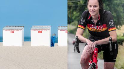 Onze columniste fietst door Vlaanderen en stopt aan het strand van Oostende: wie vindt ze in de strandcabines?