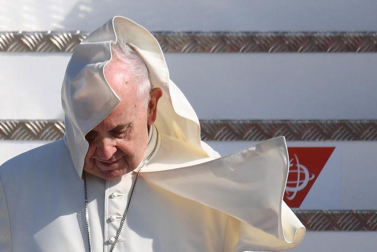 Paus Franciscus in Ierland. Beeld EPA