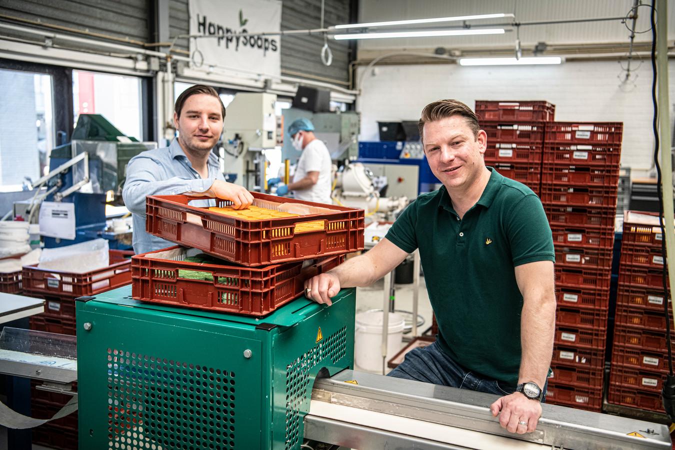 Marcel (links) en Marco Koers, oprichters van HappySoaps.