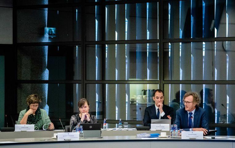 Een technische briefing over de Brexitdeal.  Beeld ANP