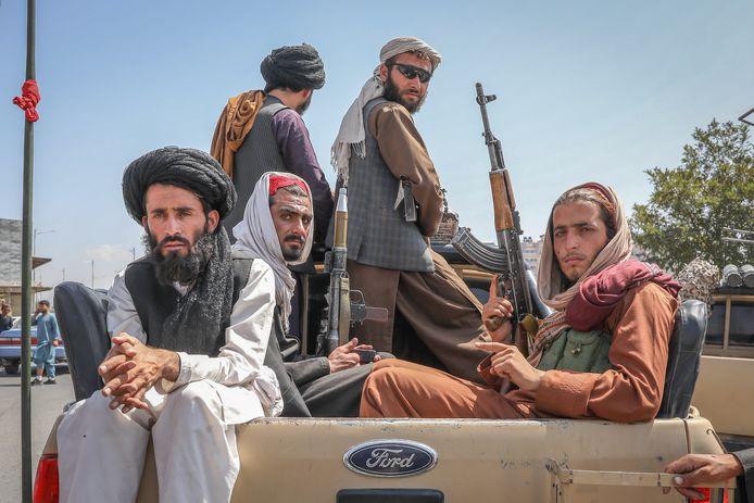 Talibanstrijders in Afghanistan.