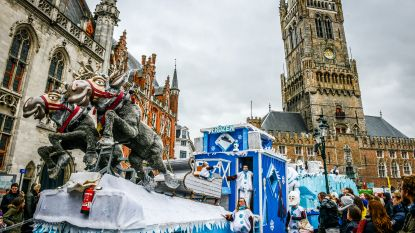 """IN BEELD. Carnaval in Brugge: """"Het leukste? Confetti gooien naar toeristen"""""""
