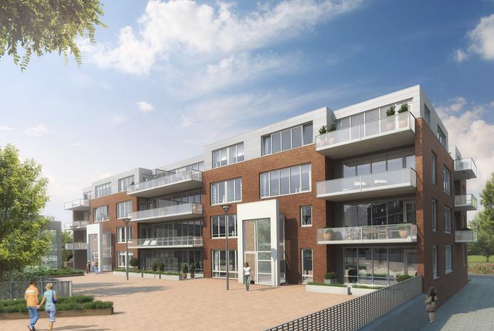 Impressie van complex Marie Louise dat wordt gebouwd in Ede.