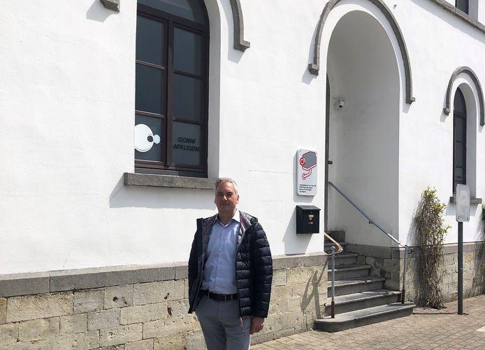 Gemeenteraadslid Guyt Uyttersprot (N-VA) voor het LOI in Teralfene.