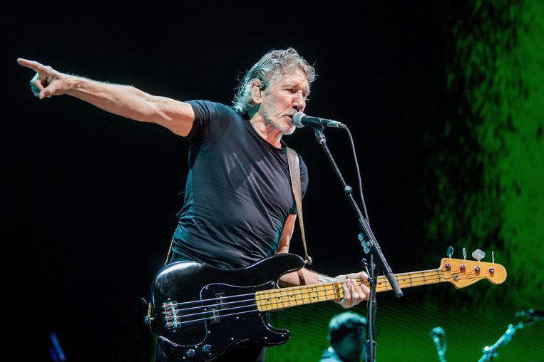 Roger Waters op het podium in Boedapest, mei 2018. Beeld EPA