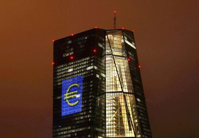 Het hoofdkwartier van de ECB in Frankfurt.