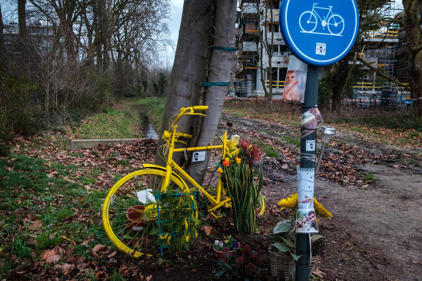 Herdenking voor Michiel Claus die exact een jaar geleden met de fiets verongelukte.
