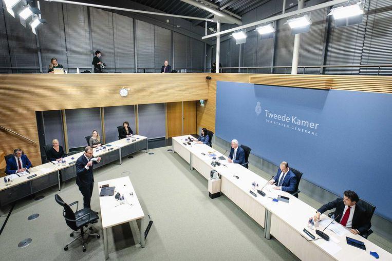 Lodewijk Asscher, minister van Sociale Zaken en Werkgelegenheid van 2012 tot 2017, wordt gehoord door de parlementaire enquetecommissie Kinderopvangtoeslag. Beeld ANP/SEM VAN DER WAL