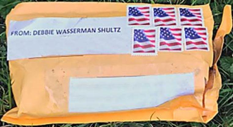 Een van de tien bombrieven die zijn onderschept.  Beeld FBI via Getty Images