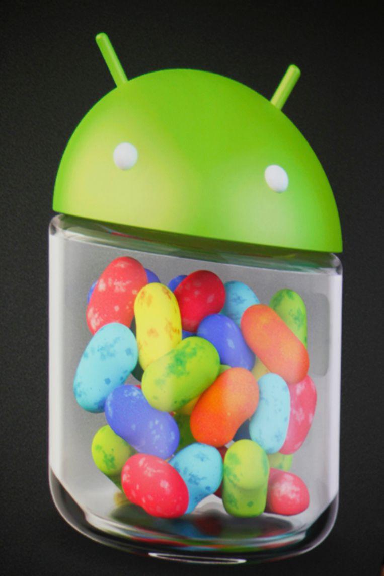 Het logo van Android 4.1 en 4.2 Jelly Bean. Beeld REUTERS
